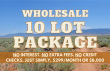 Load image into Gallery viewer, Wholesale Land Package of 10x Quarter-Acre New Mexico Parcels - $299 Down