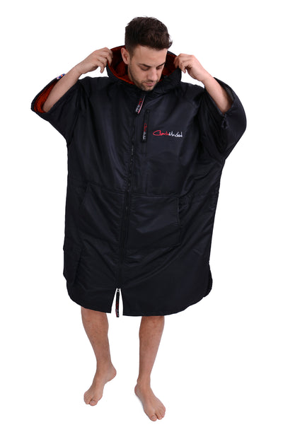 Sports Cloak Black Red