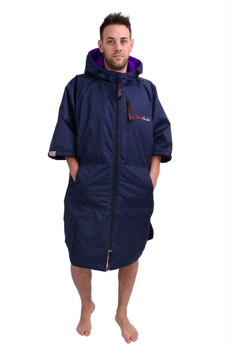 Sports Cloak Navy Purple