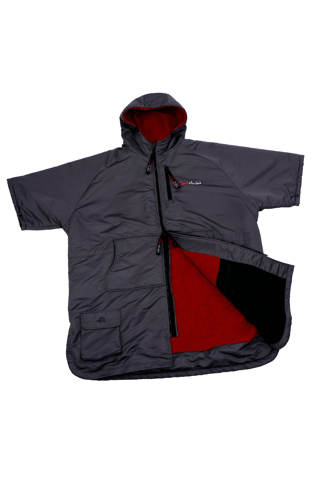 Sports Cloak Charcoal Red