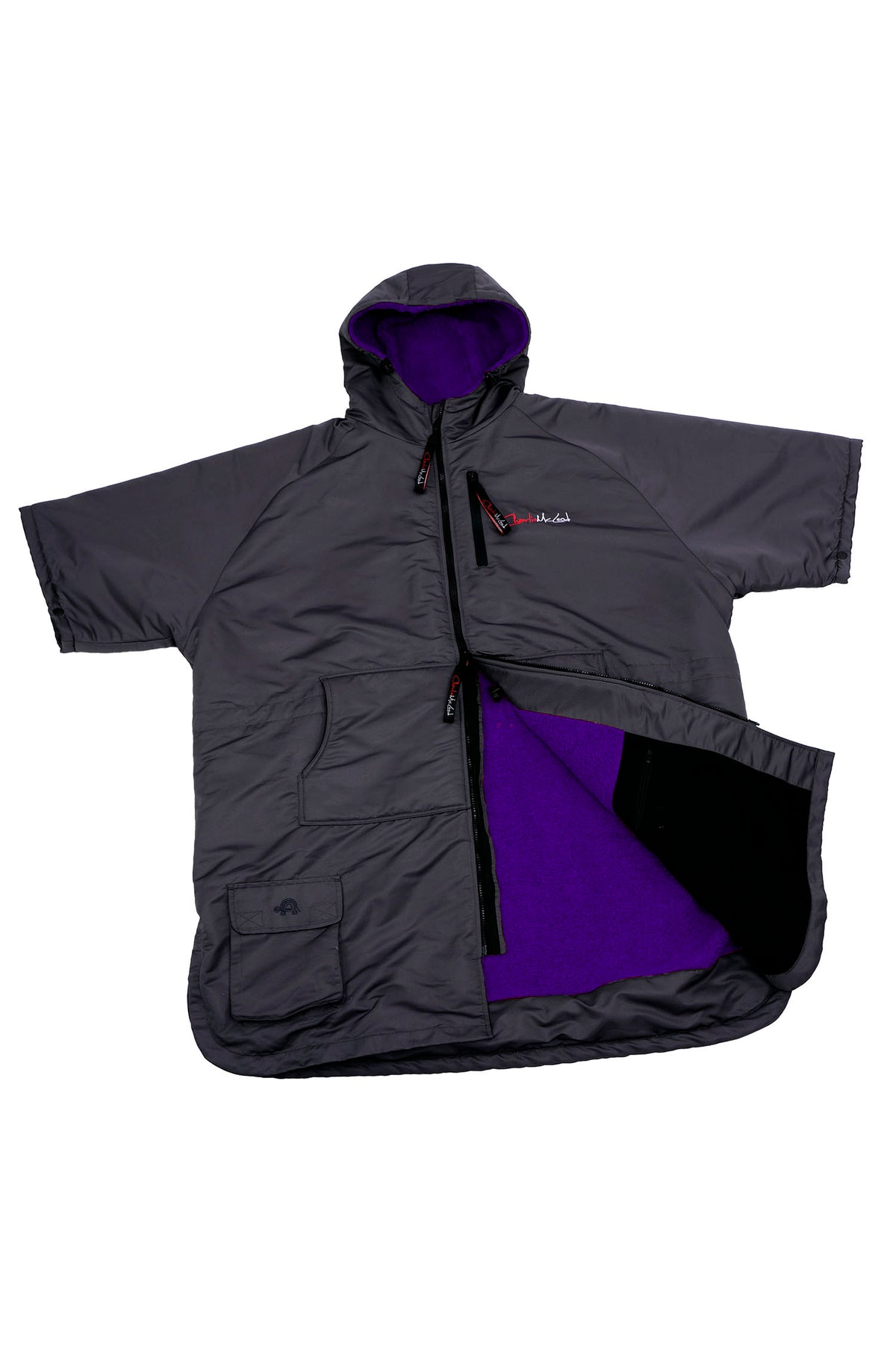 Sports Cloak Charcoal Purple