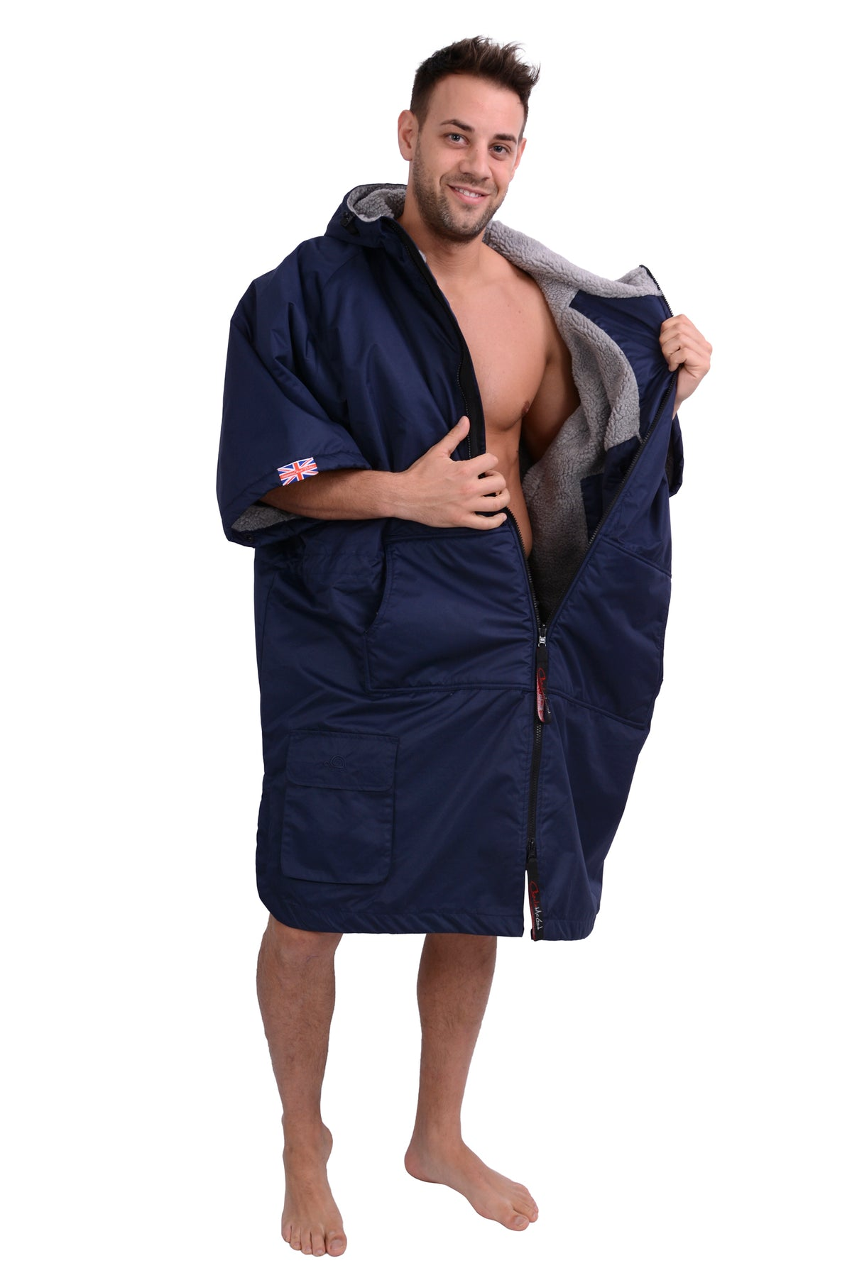 Sports Cloak Navy Grey