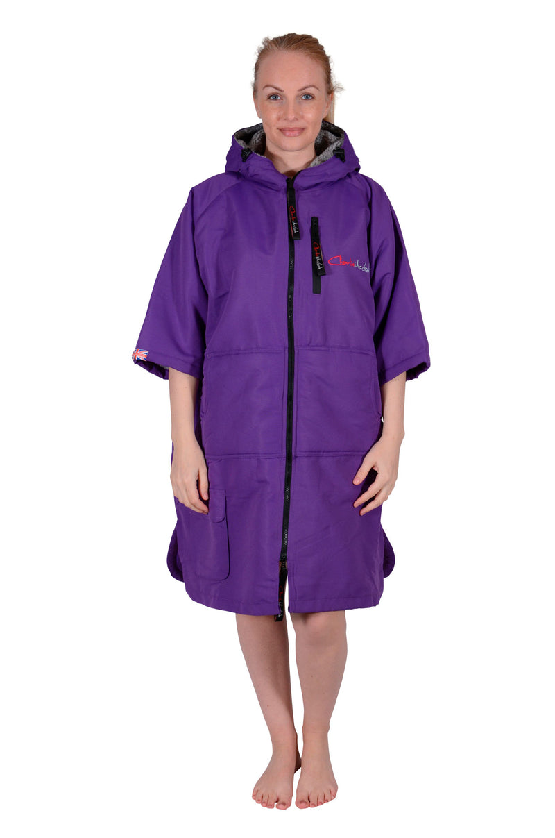 Sports Cloak Purple Grey