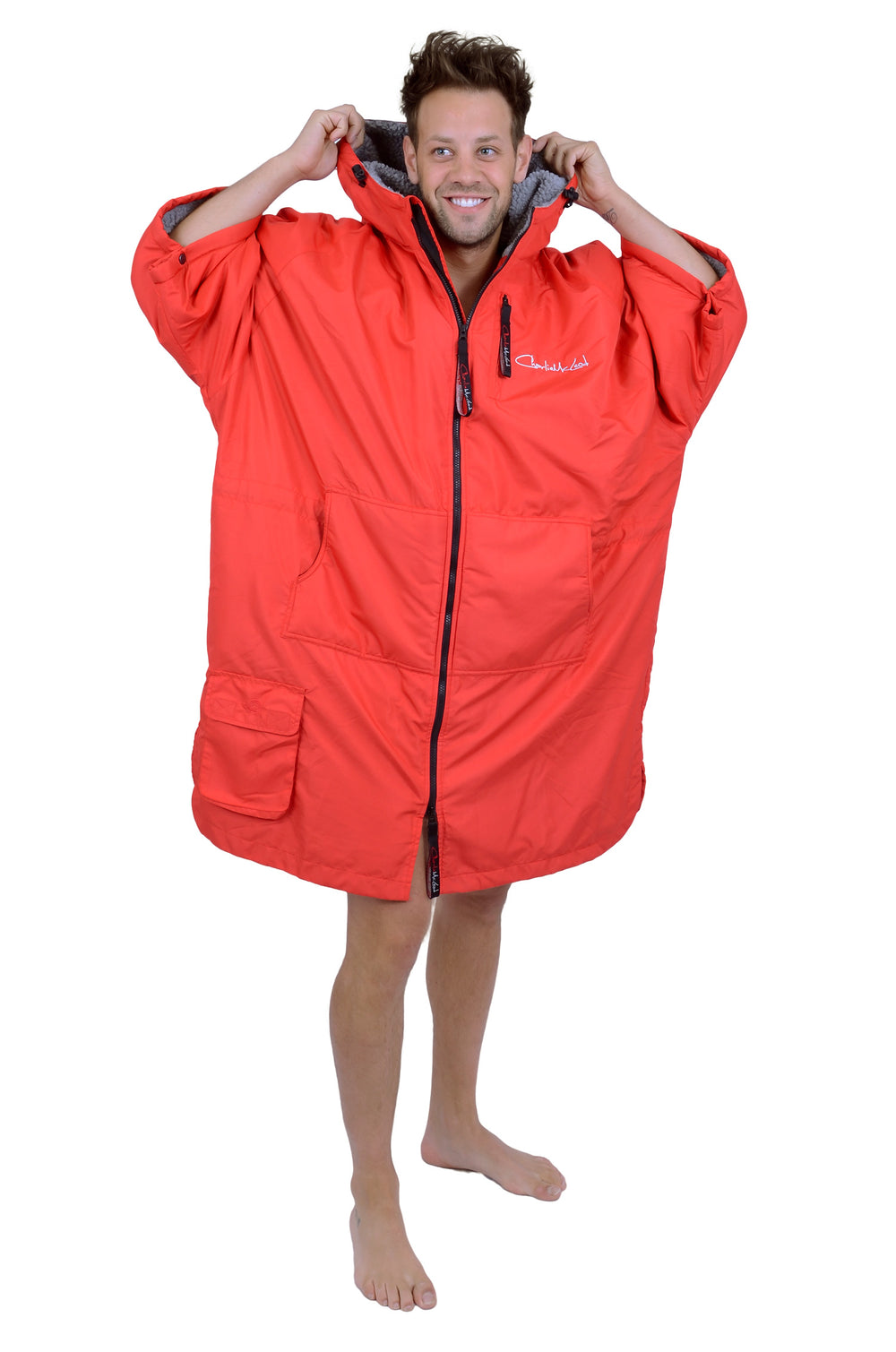 Sports Cloak Red Grey