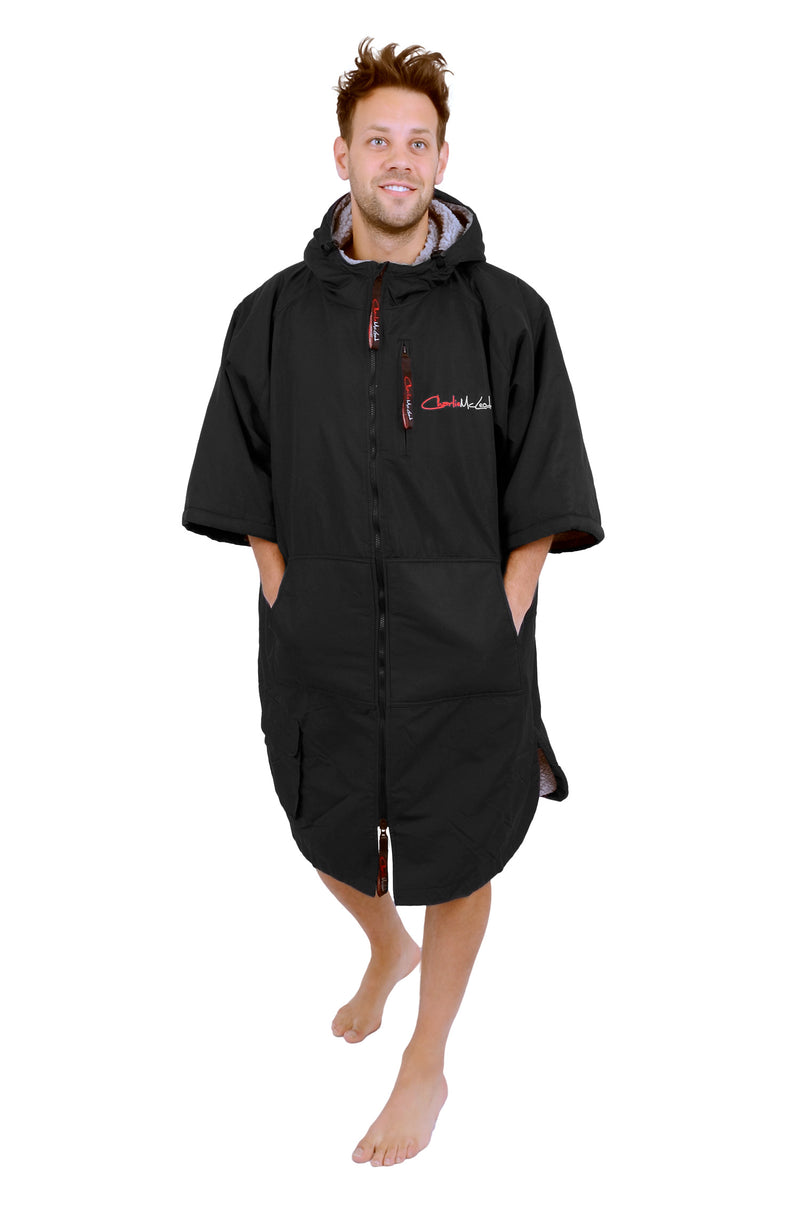 Sports Cloak Black Grey