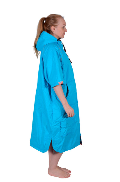 Eco Sports Cloak Short Sleeve Turquoise Grey