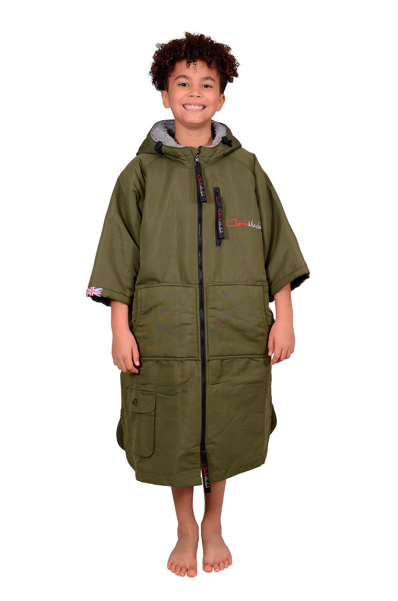 Children's Sports Cloak Military Green Grey