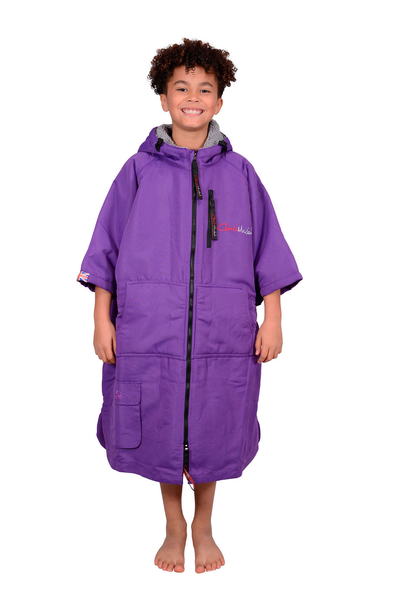 Children's Sports Cloak Purple Grey