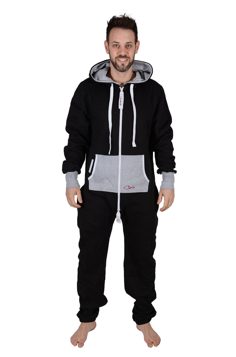 All New Onesie Black Grey