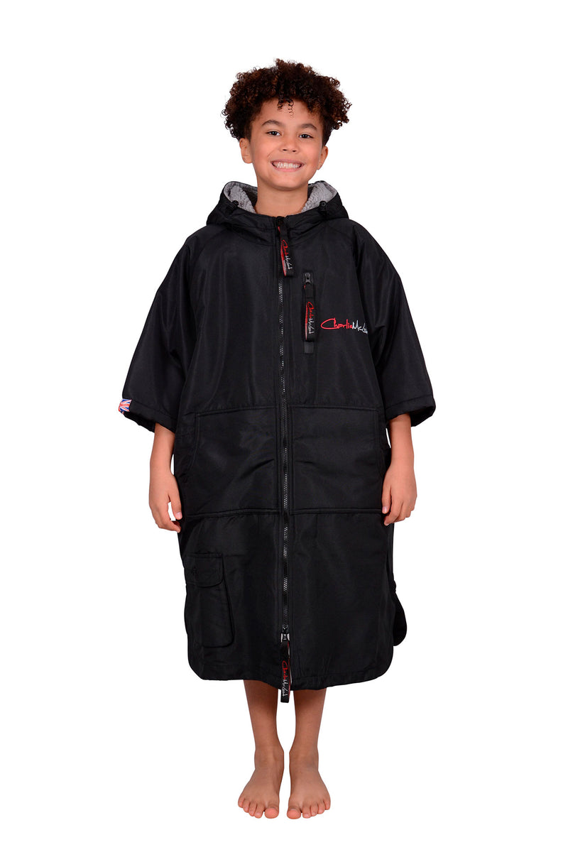 Children's Sports Cloak Black Grey