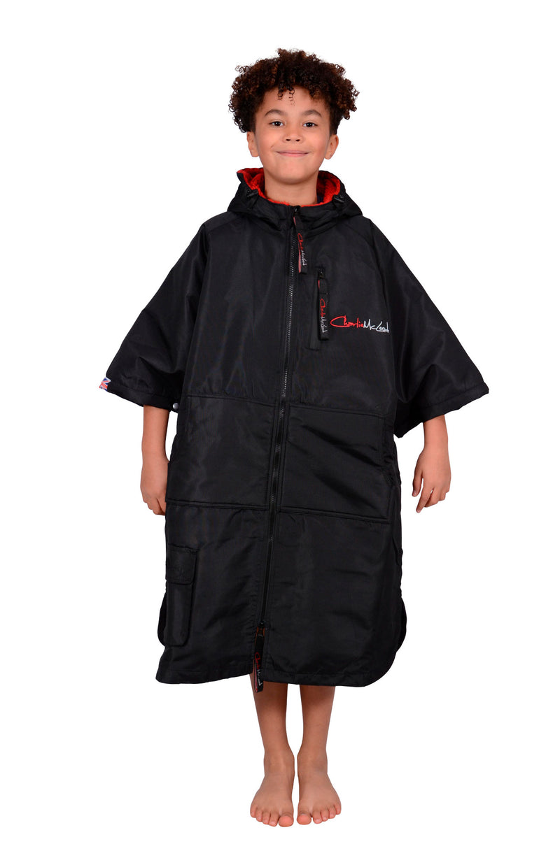 Children's Sports Cloak Black Red