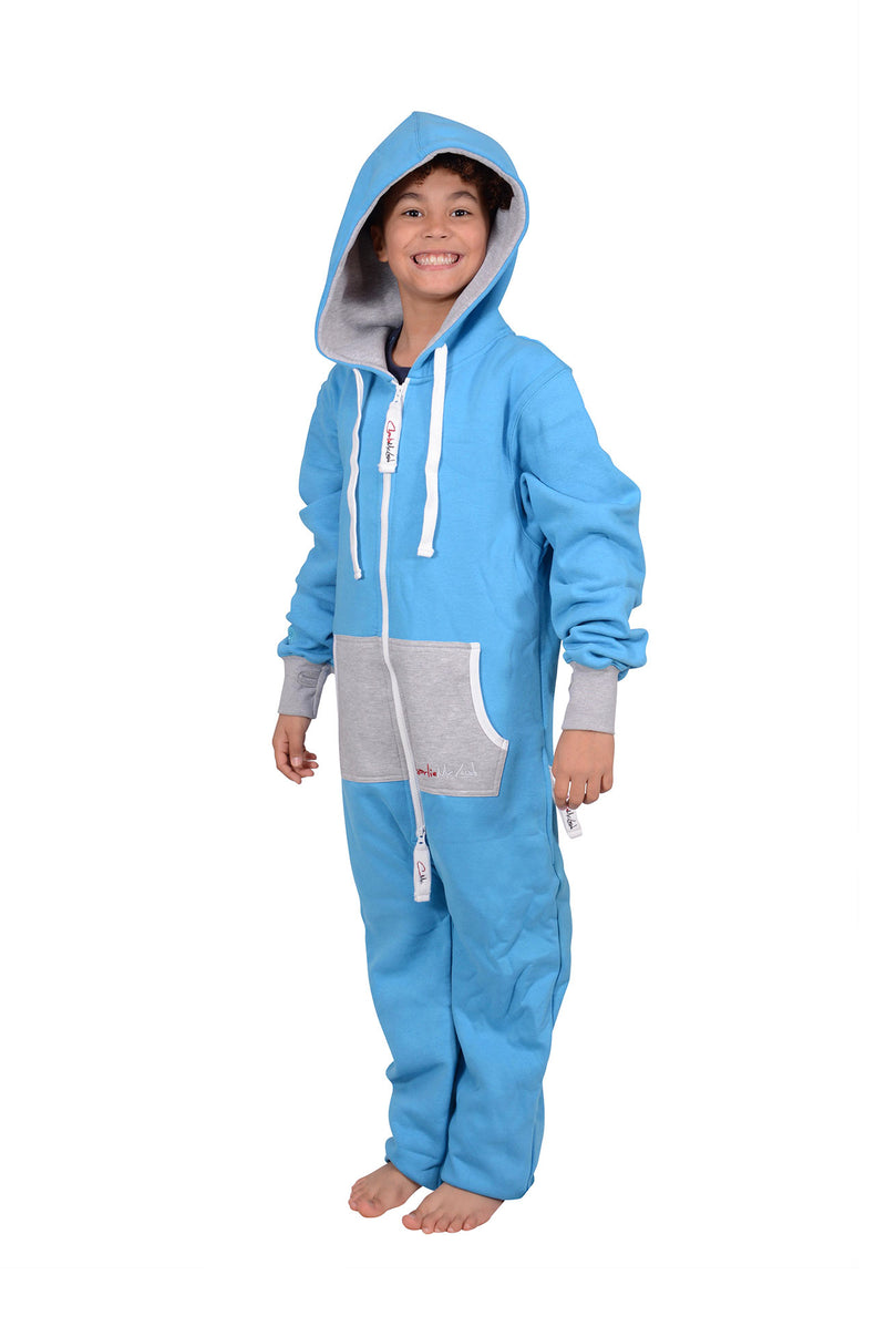 All New Onesie Cyan Grey