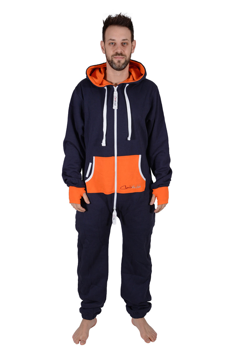 All New Onesie Navy Orange