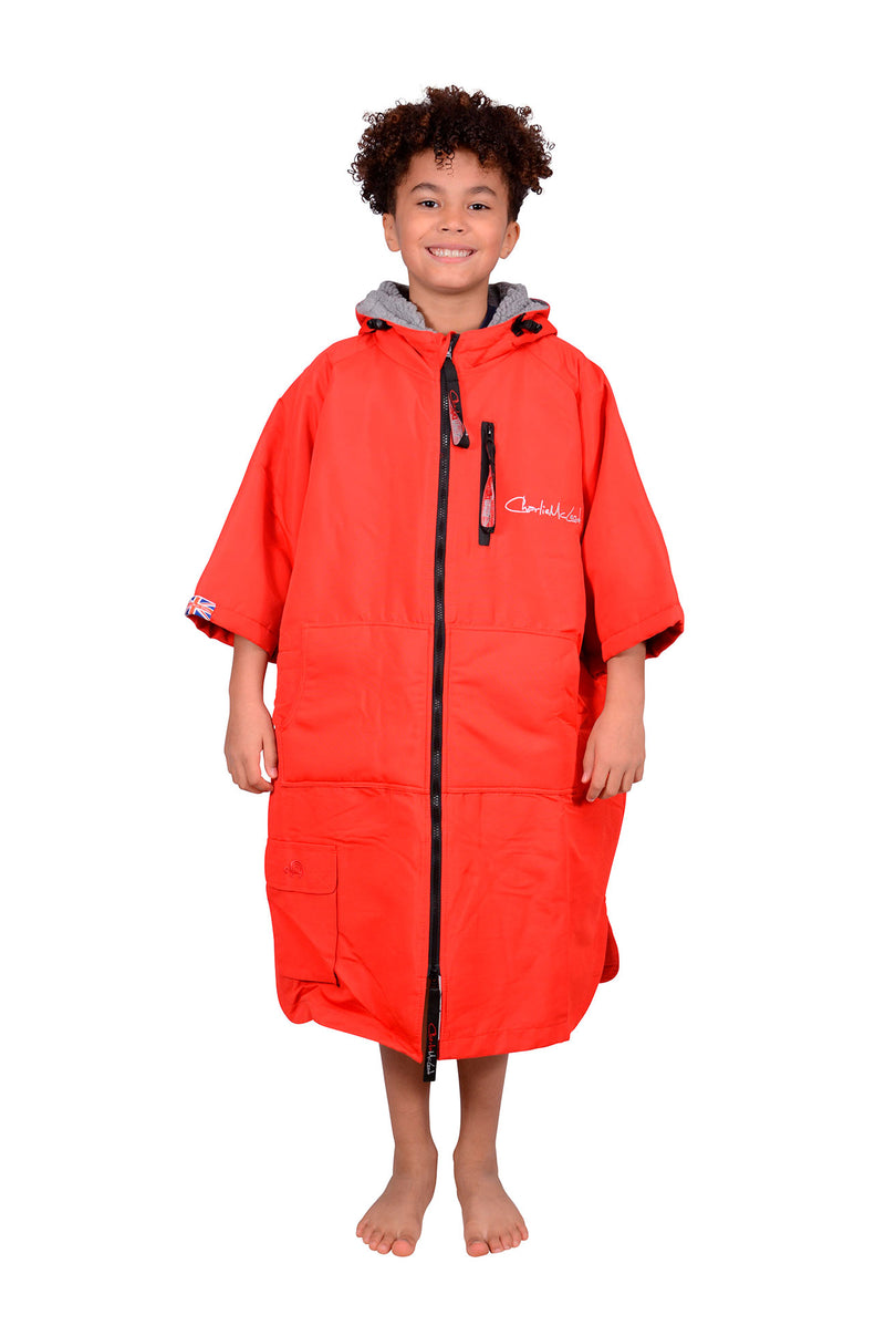 Children's Sports Cloak Red Grey