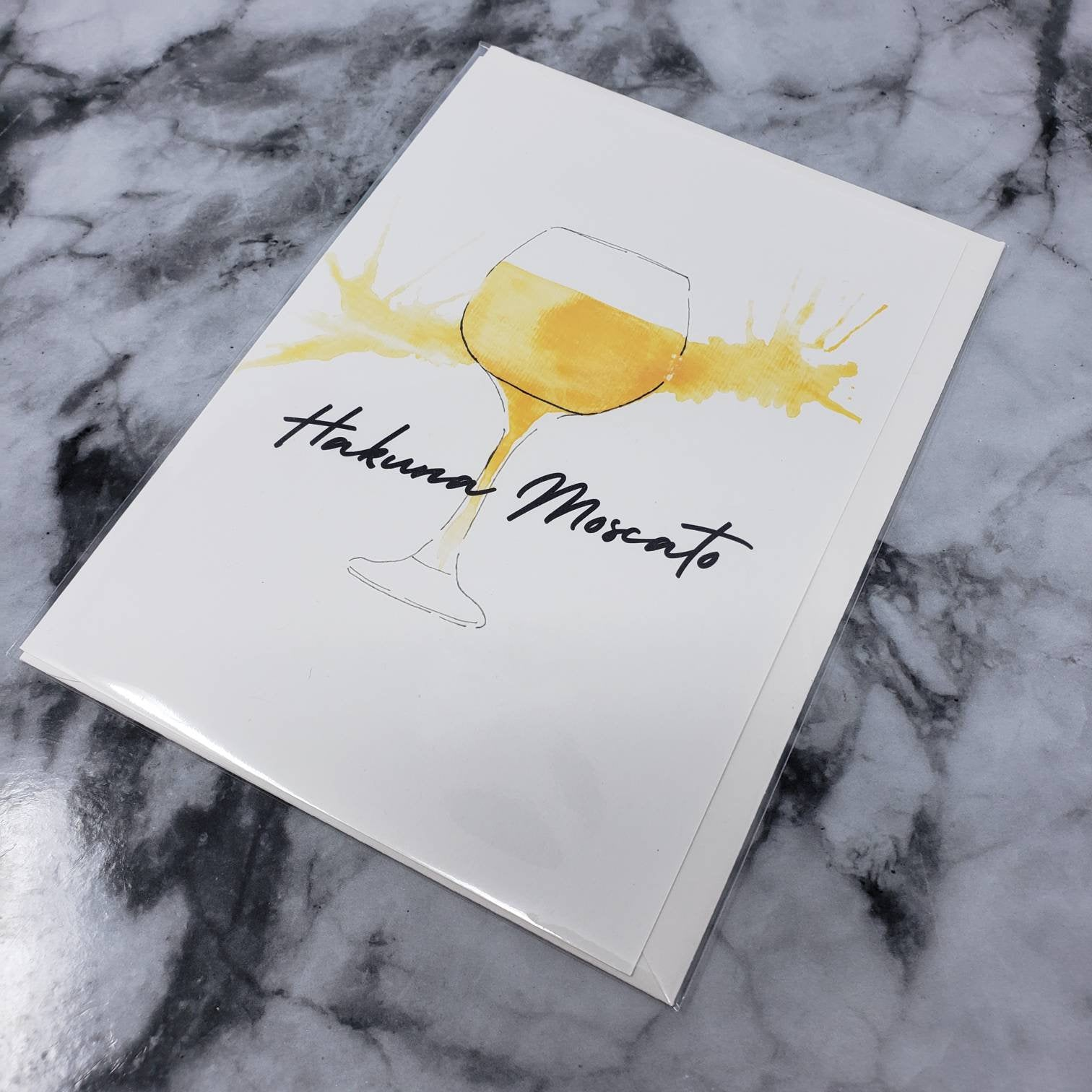 Hakuna Moscato Blank Greeting Card (A7) With Envelope