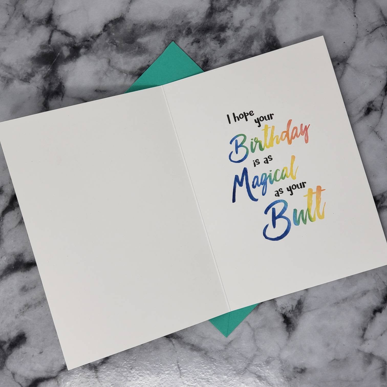 Magic Butt Birthday Card (A7) With Envelope