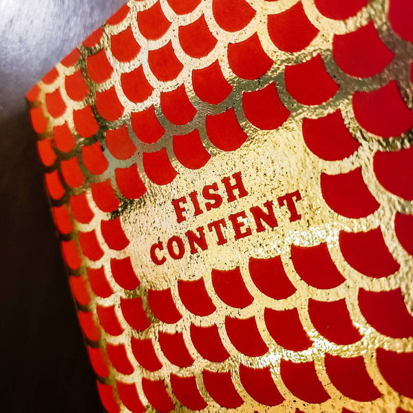 "Fish Content Notebook - Limited Production 5"" x 7"""