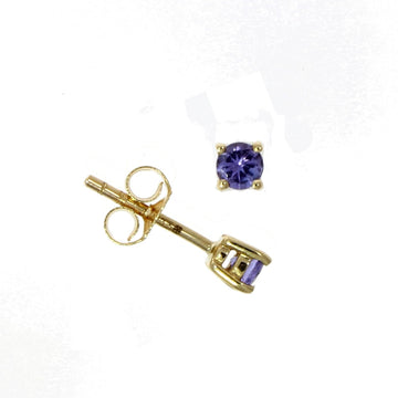 9ct Yellow Gold Tanzanite Stud Earrings