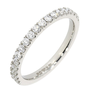 Platinum 0.40ct Diamond Half Eternity Ring
