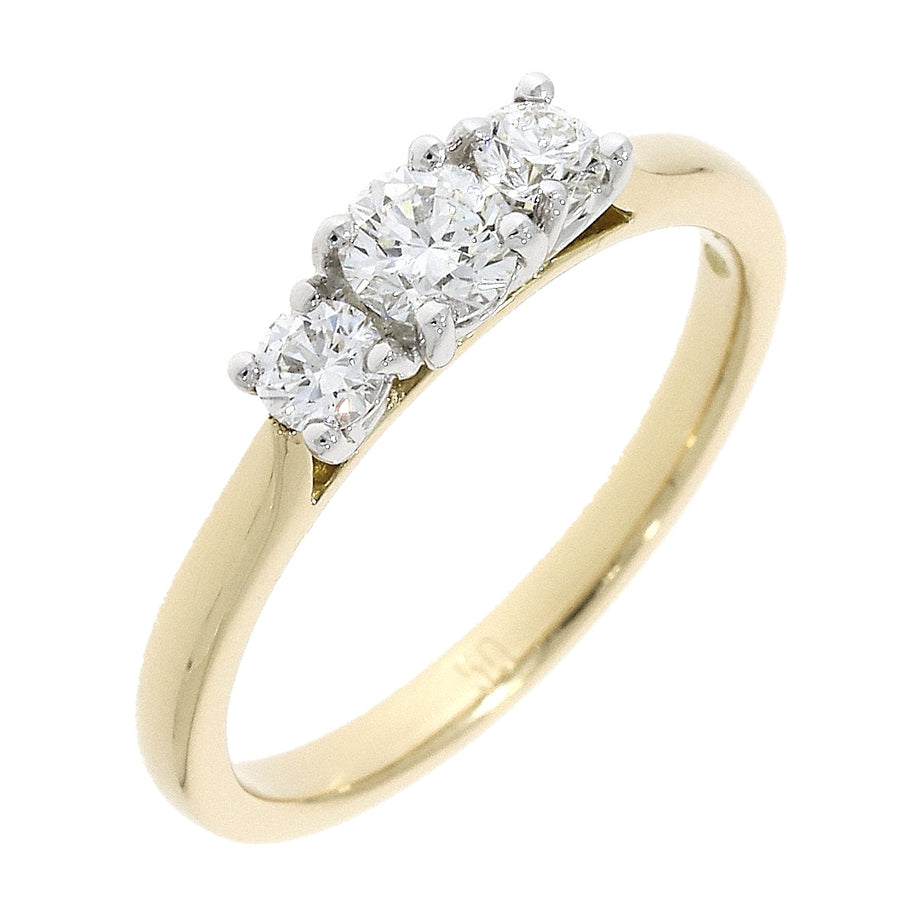 18ct Yellow Gold 0.50ct 3 Stone Diamond Ring