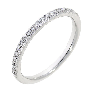 Platinum 0.19ct Diamond Half Eternity Ring