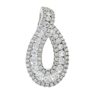 18ct White Gold 0.68ct Diamond Necklace