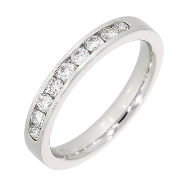 Platinum 0.30ct Diamond Half Eternity Ring