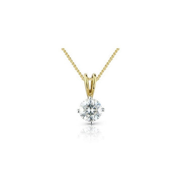 18ct Yellow Gold 0.15ct Claw Set Diamond Necklace