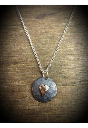 Silver Yulan Heart Necklace