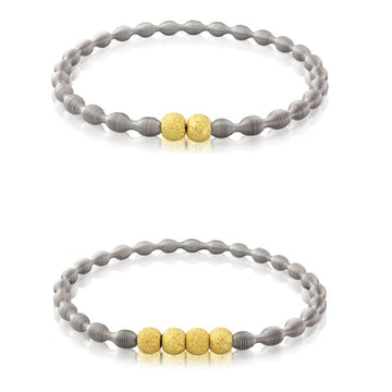 Pair of Spriing Stacking Micro Bracelets