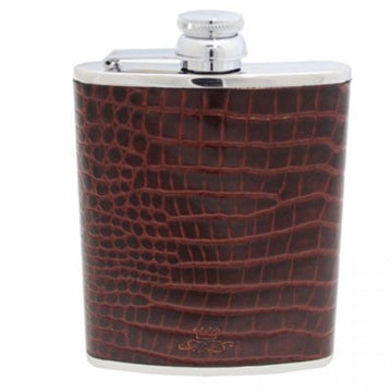 6oz Steel Leather Hip Flask