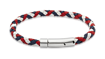 Mens Unique & Co GBR Leather Bracelet (Long)