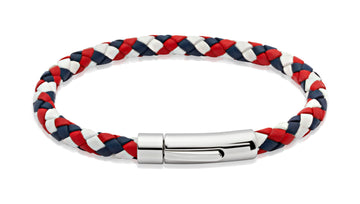 Mens Unique & Co GBR Leather Bracelet