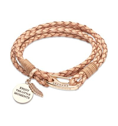 Ladies Unique & Co Natural Leather Bracelet