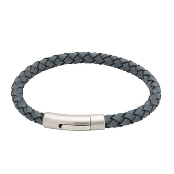 Mens Unique & Co Blue Leather Bracelet