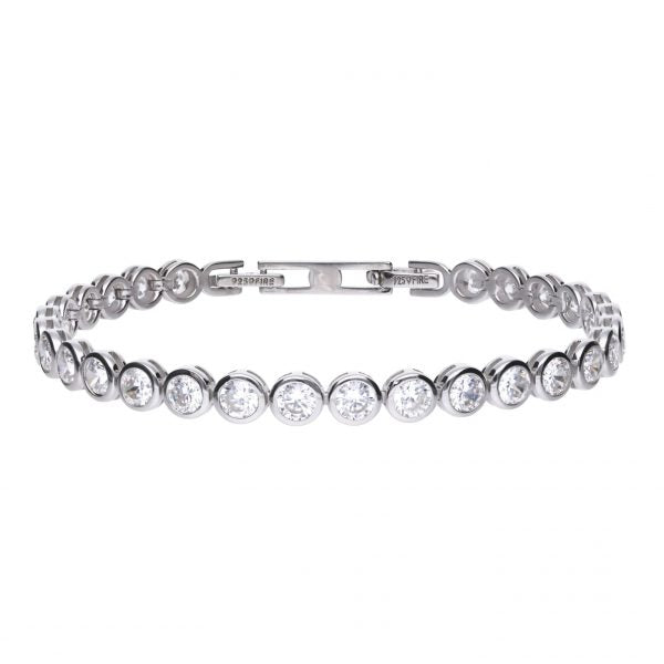 Diamonfire 7.25ct CZ Tennis Bracelet