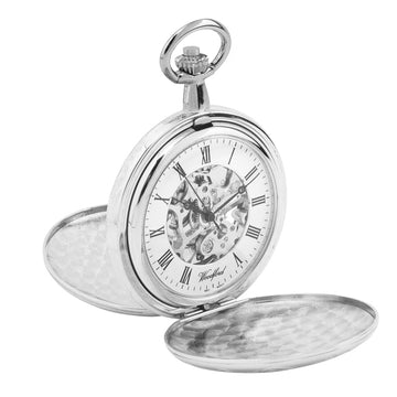 Full Hunter Woodford Skeleton Pocket Watch