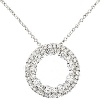 18ct White Gold 0.56ct Circle Diamond Necklace