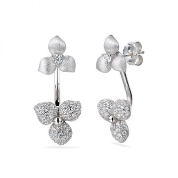 Vixi Desert Flower Stud Earrings With Detachable Drops