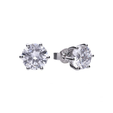 Diamonfire 4.00ct CZ Stud Earrings