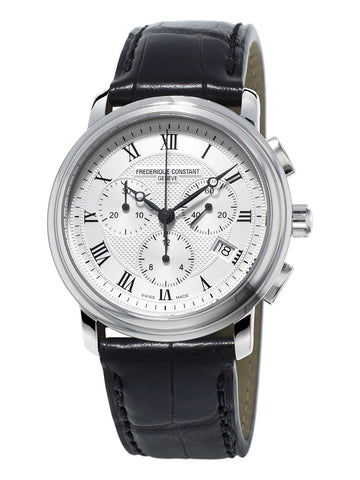 Mens Frederique Constant Chronograph Strap Watch