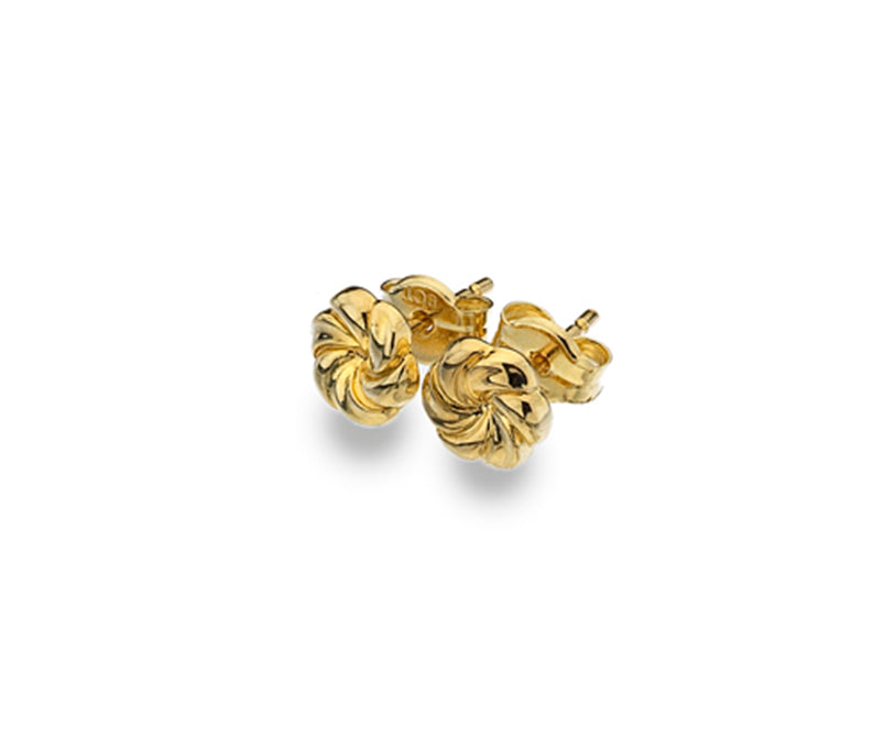9ct Yellow Gold Spiral Stud Earrings