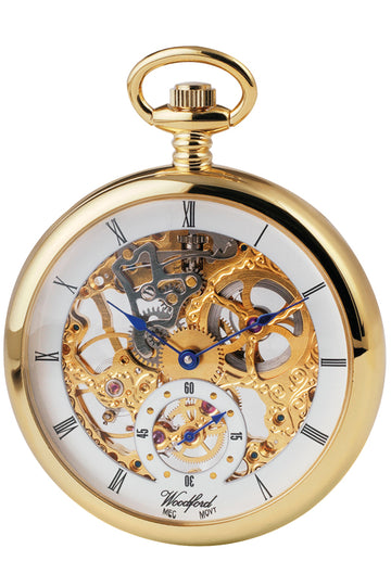 Open Face Woodford Skeleton Pocket Watch
