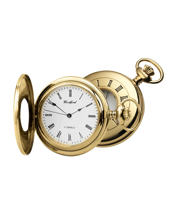 Half Hunter Woodford Pocket Watch