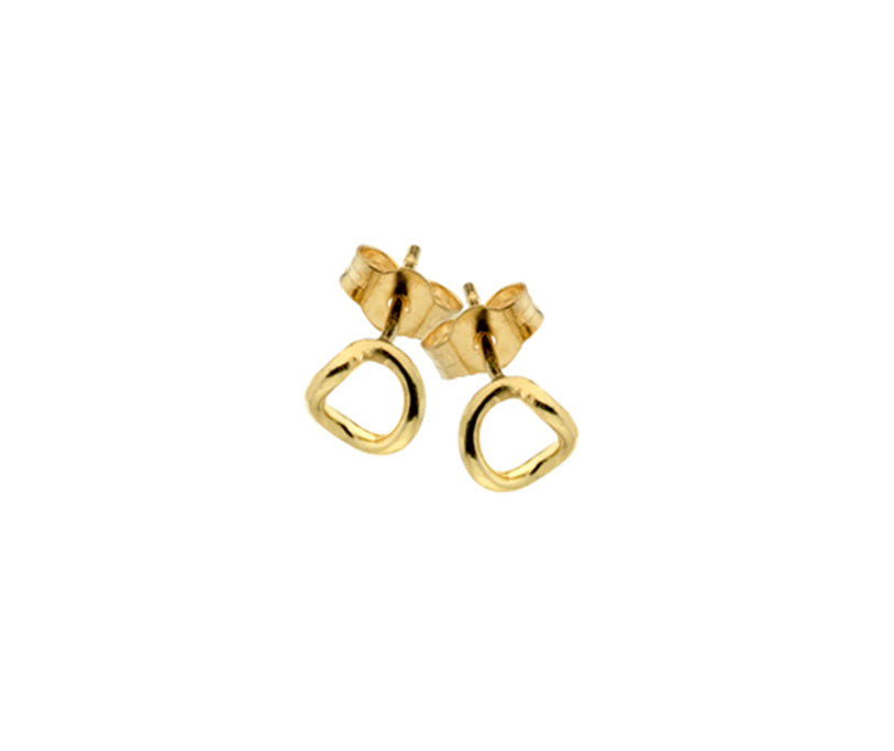 9ct Yellow Gold Curb Twist Stud Earrings