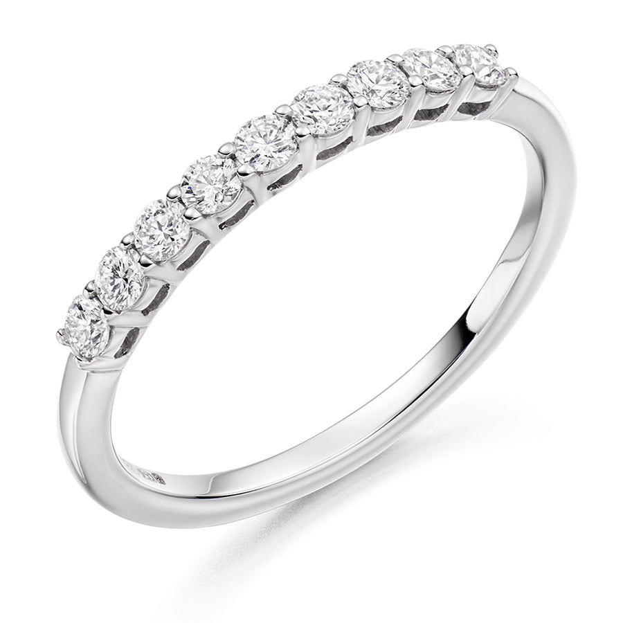 18ct White Gold 0.33ct Diamond Half Eternity Ring