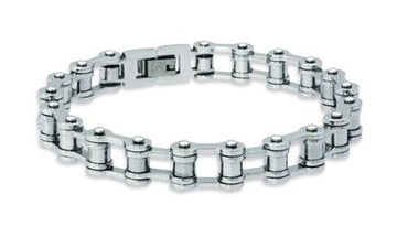 Mens Unique & Co Steel Bike Chain Bracelet