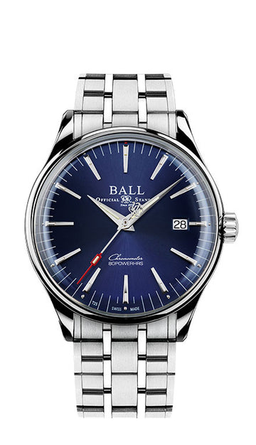 Mens Trainmaster Manufacture 80 Hours Ball Watch