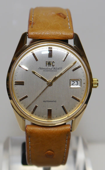 Mens 9ct Gold IWC Watch