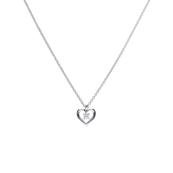 Diamonfire Open Heart CZ Necklace